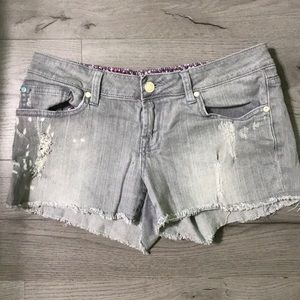 Gray Distressed Charlotte Russe Shorts
